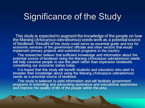 How To Make Significance Of The Study In Research Paper - venn mayelle a teposo researcher mr jerico d catipay