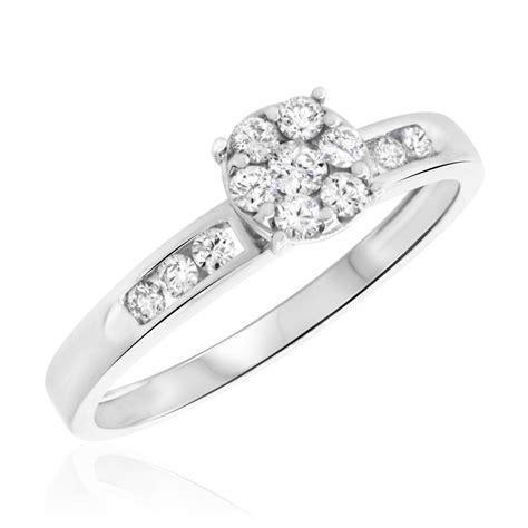 1 3 ct t w engagement ring 10k white