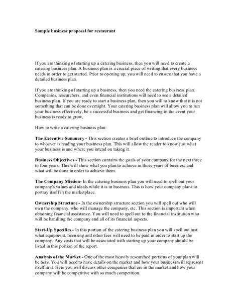 What Is A Service Level Agreement Template sample business proposal for restaurant
