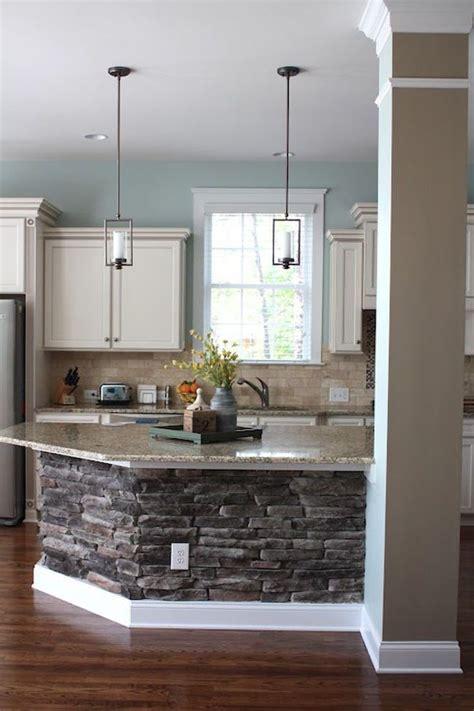 25 best ideas about stone kitchen island on pinterest