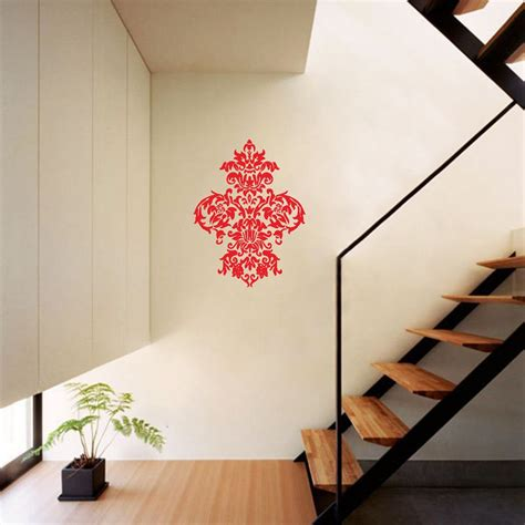 damask wall sticker large baroque damask wall decal american wall decals