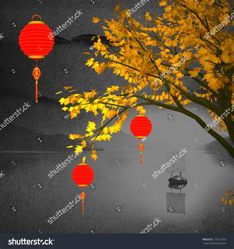 new year peace lantern festival big colorful lanterns will bring stock illustration