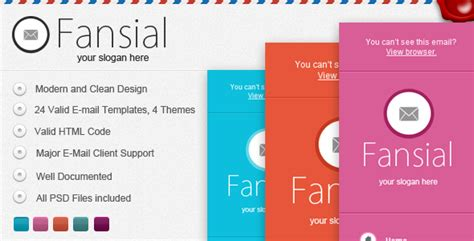 Dimo 16 Email Notification Template Set Access fansial e mail newsletter jogjafile