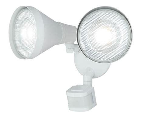 menards outdoor lighting motion sensor led 10 quot 240 degree 2 head motion activated flood light at