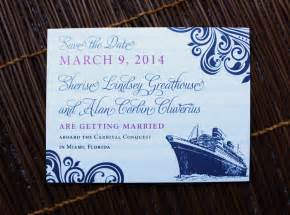 carnival cruise wedding invitations cruise wedding themed save the date cards emdotzee designs