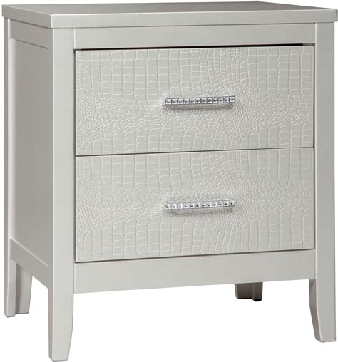 Platinum Plus Carpet Reviews by Olivet Silver 2 Drawer Nightstand From Ashley Coleman