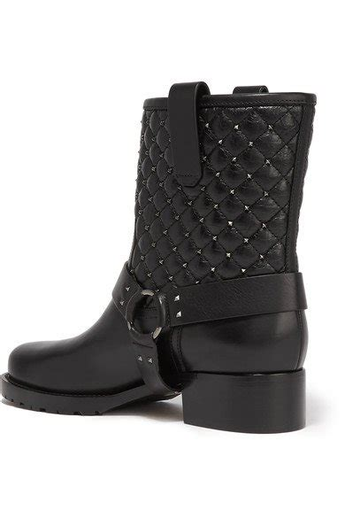 stylish biker boots valentino stylish rockstud spike quilted leather biker