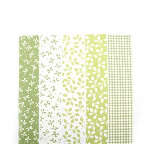 Floral Patchwork Fabric - new 5 colors green floral patchwork cotton fabric strips