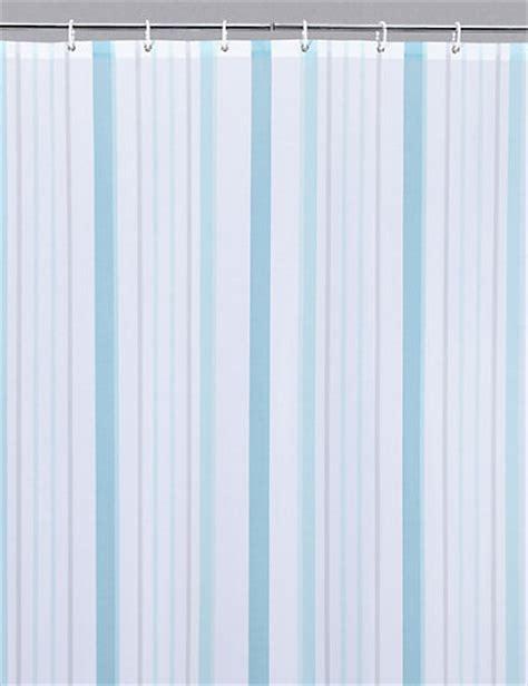 thin stripe nautical shower curtain ms