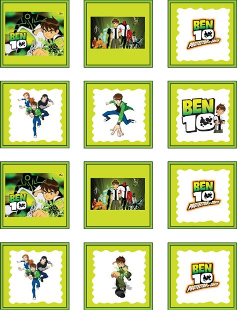 ben 10 printable party decorations free ben 10 printable party stickers free printables