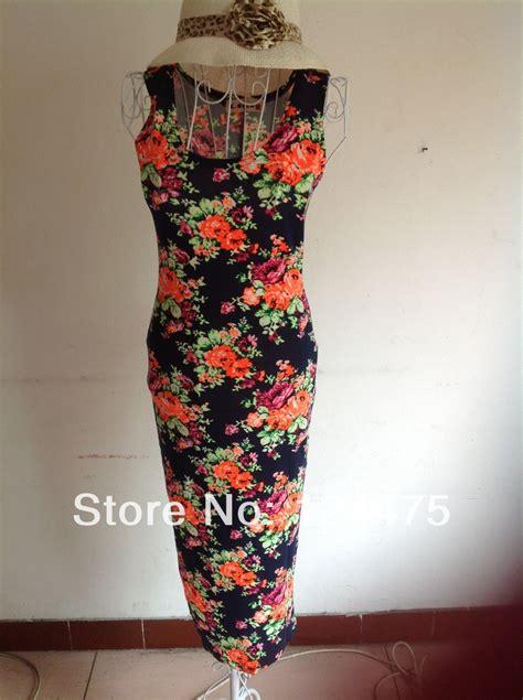 Blue Flower Retro Cheongsam Dress Vintage Import Fashion Wanita Korea 2014 summer rockabilly best cheap retro blue flower print
