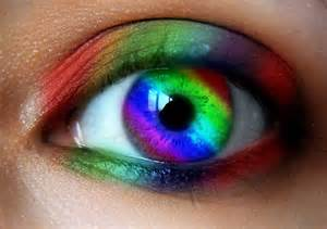 rainbow colored contacts rainbow eye by lt arts on deviantart
