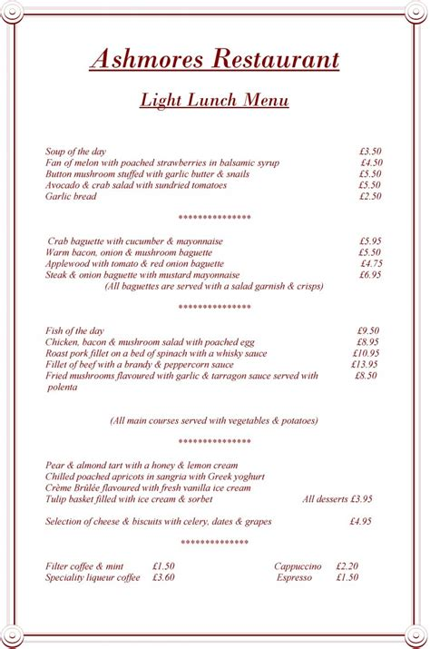 restaurants with light menus pin light lunch menu on