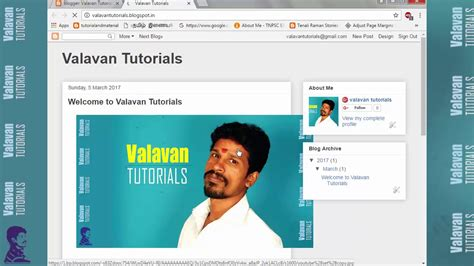 blogger website tutorial create a blogger 2017 tutorial in tamil youtube