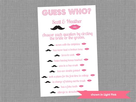 guess who bridal shower free template renee celebrations sophisticated bridal shower celebration inspiration