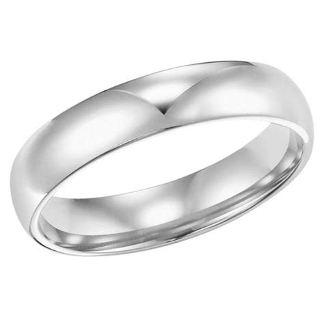 14k white gold 4mm wide wedding band mullen jewelers