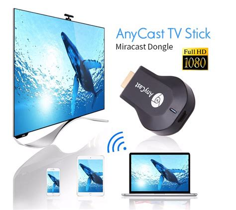 Anycast Wifi Display Receiver Dongle Wireless Hd Cast Tv anycast m2 plus ezcast miracast chromecast dongle hdmi 2 1080p tv stick wifi display