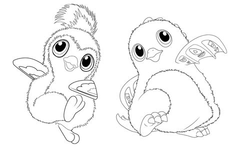 hatchimals toys coloring pages get coloring pages