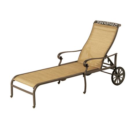 Metal Chaise Lounge Chairs Design Ideas Brown Metal Lounge Chair With Two Wheels Also Arm Rest Combined With Seat And Back