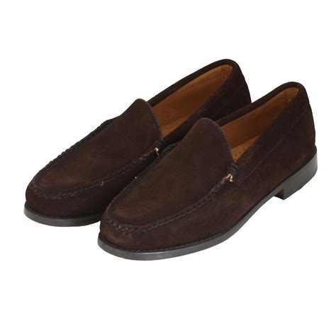 lewis shoes bass weejuns shoes lewis suede shoe in brown