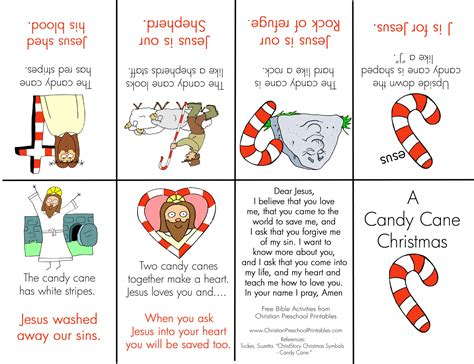 candy cane mini book christian preschool printables