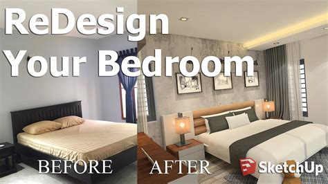 redesign   bedroom  sketchup tutorial