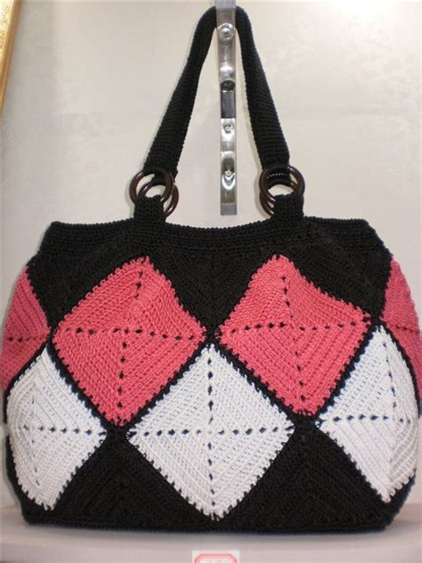 Crochet Hook Bag Pattern | handmade wool crochet hook handbag hobo women bag via