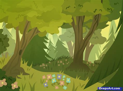 Drawing Backgrounds by How To Draw Forests Forest Backgrounds Step By Step