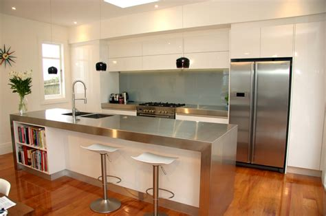 home design store auckland modern minimalist gloss white kitchen western springs auckland 2013 modern kitchen