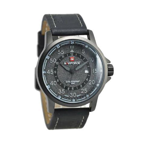Jam Tangan Hitam harga naviforce nf9076m jam tangan pria hitam grey pricenia
