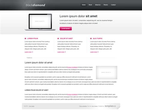 black free css xhtml template templates