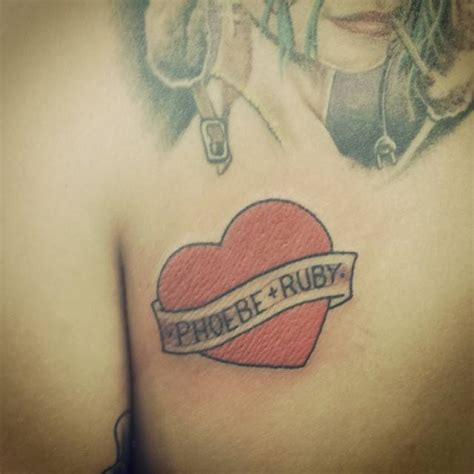 phoebe tattoo designs ruby s and banner saying quot phoebe