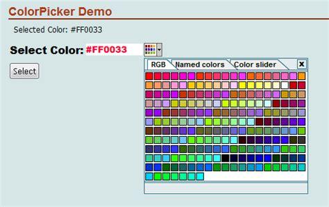 asp net color picker web server control codeproject