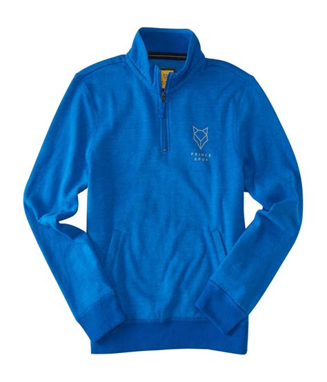 Prince Fox Sweatshirt Sleeve aeropostale mens prince fox graphic half zip pullover sweatshirt ebay