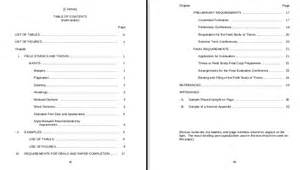 table of contents cover pages for references appendix