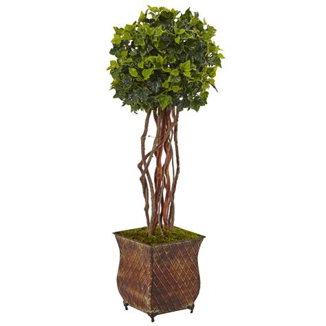 uv plant light home depot nearly natural indoor outdoor english ivy artificial tree