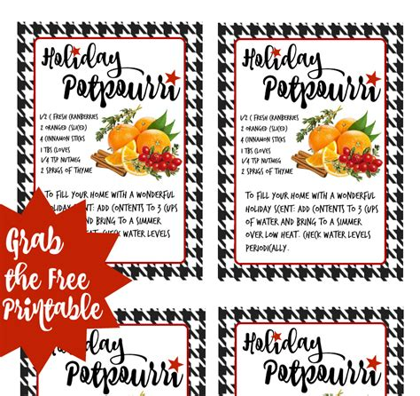printable christmas potpourri tags momma told me sharetheholiday with rubbermaid takealongs