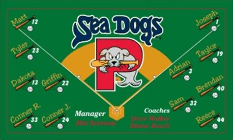 sea dogs baseball portland sea dogs custom baseball banner sea dogs portland