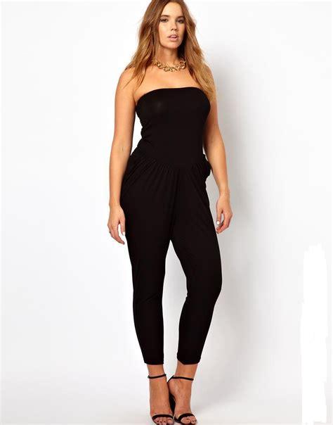 Jumpsuit Jumbo Jumpsuit Bigsize aliexpress buy plus size strapless jumpsuits 2016 6xl black jumpsuit