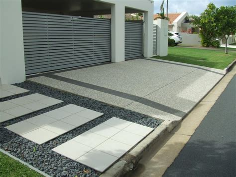 How To Decorate Front Yard - driveways inspiration caltabiano concreting australia hipages com au
