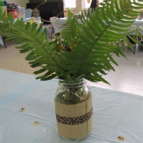 jungle themed centerpieces for baby shower baby shower centerpiece i made for my s jungle