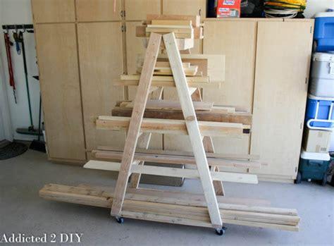 Mobile Lumber Storage Rack Plans by Easy Portable Lumber Rack Free Diy Plans Rogue Engineer