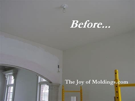 Kitchen Cabinet Moldings And Trim before amp after soffit crown molding and archway the joy