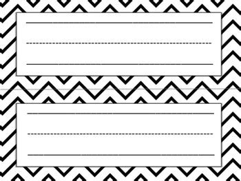 template for student desk name cards free black and white name plates by education to the teachers pay teachers