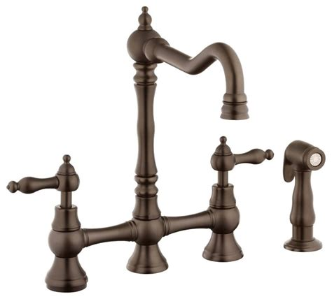belle foret kitchen faucets belle foret n110 01 orb kitchen faucet in oil rubbed
