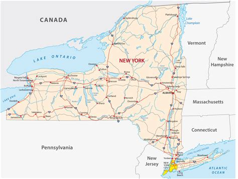 road map new york new york map guide of the world