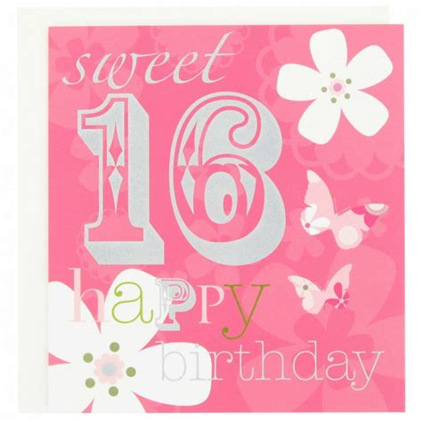 Sweet Pattern Card 6 sweet 16 birthday cards with regard to keyword card design ideas
