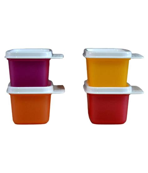 Tupperware Mini Container tupperware keep tab mini pet food container set of 4