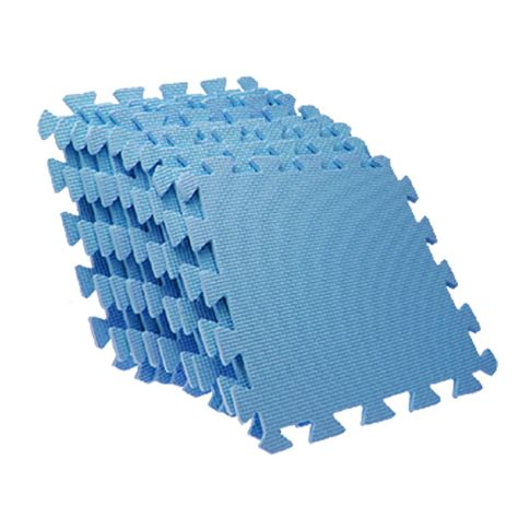 Puzzle Foam Mats by Puzzle Foam Anti Fatigue Blue Interlocking Floor Mats