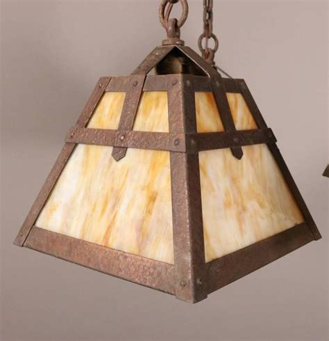 Craft L Shades by Antique Arts And Crafts Four Arm Chandelier With Slag